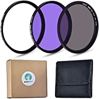 Camera Filters, 77mm Professional Photography Filter Kit Lens Filters Accessory Kit (UV CPL FLD) for DSLR, Camera Lenses with 77mm Filter Thread + Filters Case