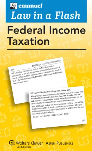 Law in a Flash Cards: Federal Income Tax, 2010