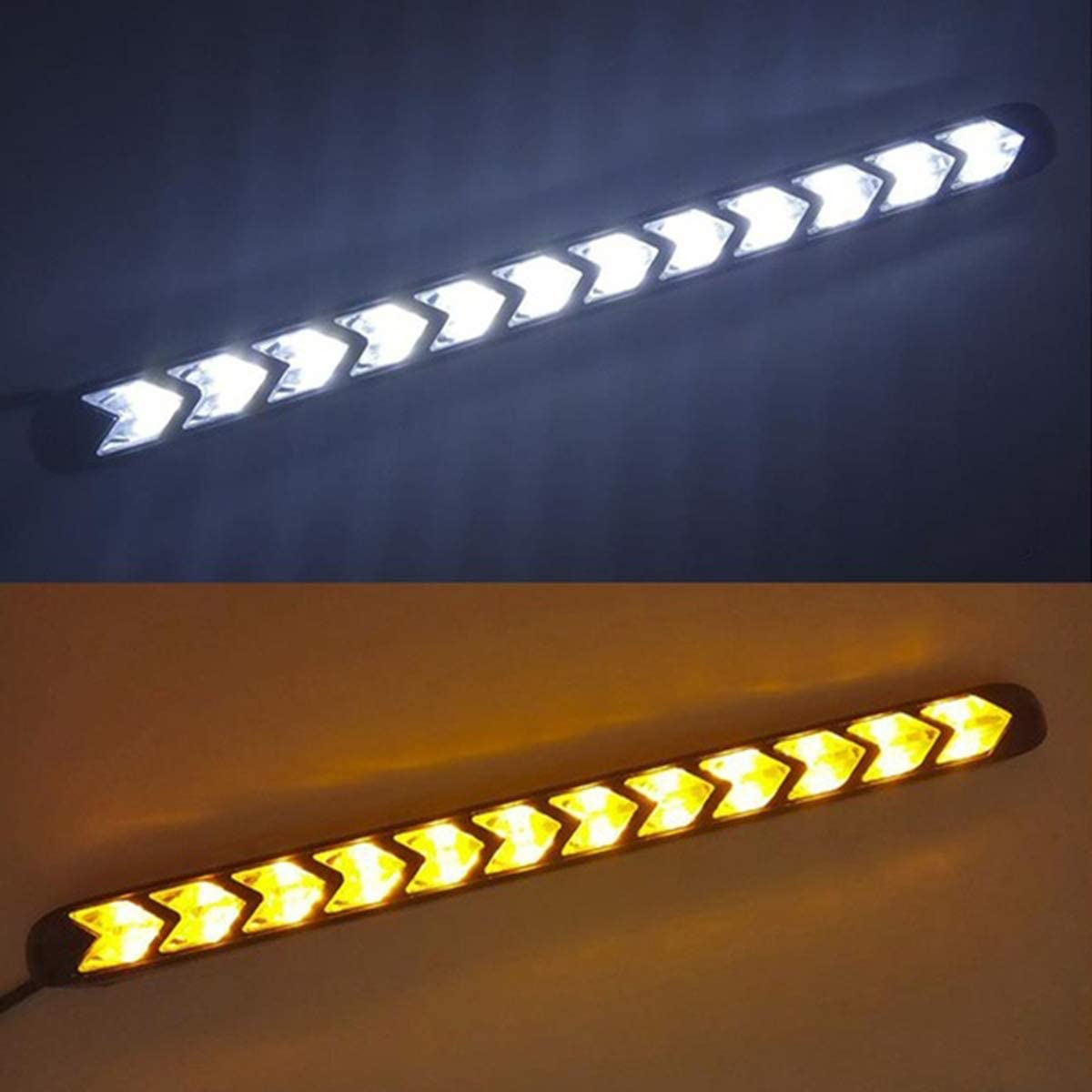 universales de doble color tira de luz LED flexible para coche Hanpmy luces intermitentes secuenciales intermitentes impermeables