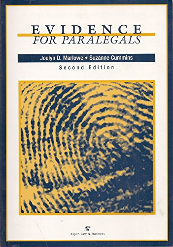 Evidence for Paralegals, Second Edition with Other