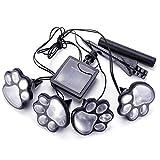 Shareculture Solar Garden Light Outdoor Paw Dog Animal Print lightSolar Powered Lights LED for Patio Pathway