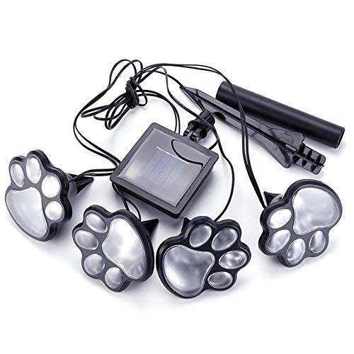 Shareculture Solar Garden Light Outdoor Paw Dog Animal Print lightSolar Powered Lights LED for Patio Pathway by Shareculture