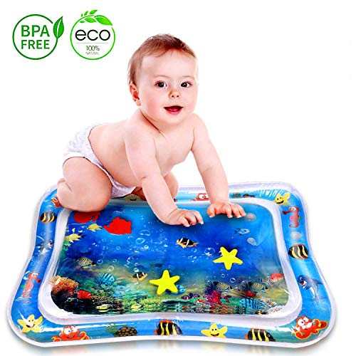 Inflatable Tummy Time Water Play Mat, Leakproof Water Filled Baby Playmat for Toddlers Infant, Fun Activity Play Center Your Baby's Stimulation Growth Summer Toys