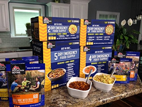 Mountain House MH 14 Day Emergency Food Supply, 100 total servings, Freeze Dried Meals just add water, 25 year Shelf Life with bundled with Extended Outdoors Equipment Satisfaction Guarantee by Mountain House (Image #2)