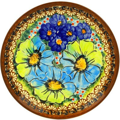Polish Pottery Dessert Plate 7-inch UNIKAT