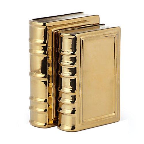 Galt International Gold Ceramic Book Table Top Decoration, Large by Galt International