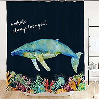 Ofat Home Cute Cartoon Shower Curtain, 71''x71''