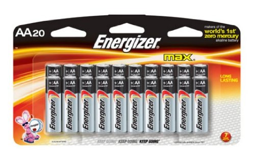 Energizer Max AA, 16 Count + 4 Free Pack Batteries, 20- Total Batteries