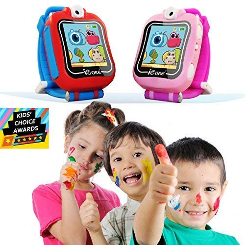 iCore Durable Kids Smartwatch, Electronic Child Smart Watch Video Games, Children Digital Tech Watches, Touch Screen Learning Timer Alarm Clock with Camera for Girls Boys by iCore (Image #3)