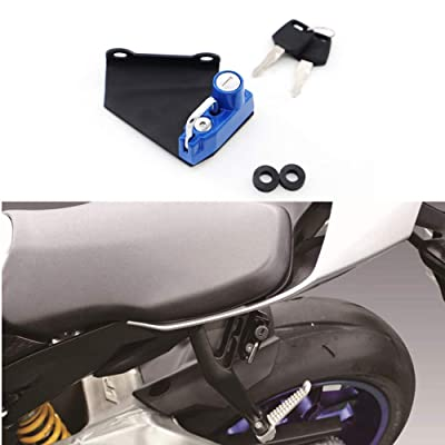 Motorcycle Helmet Lock Anti-Theft For Yamaha YZF-R1/M 2015 and later, YZF-R6 2020 and later - Blue: Automotive [5Bkhe1502269]