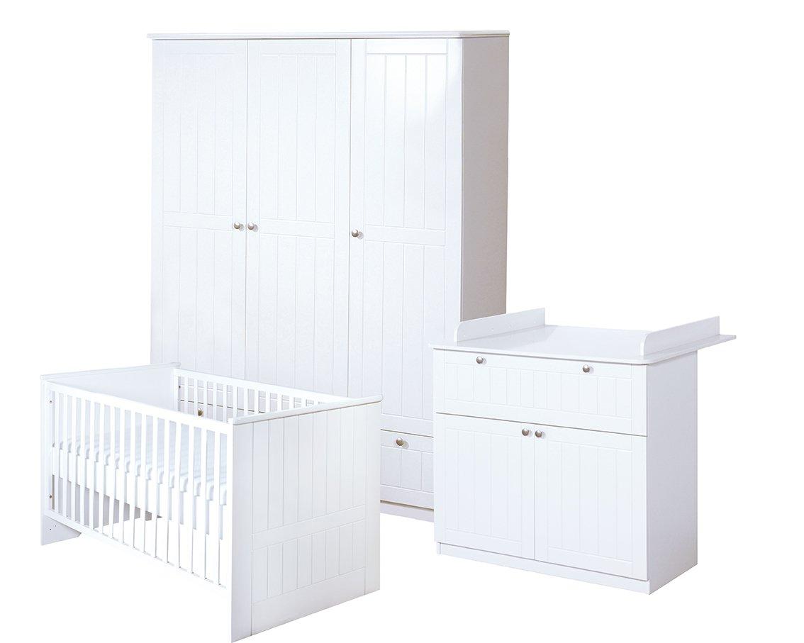 Roba Komplettzimmer Dreamworld 3 Weiß Mit Babybett Wickelkommode