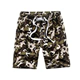 Tailor Pal Love Swim Trunks for Boys 16 Camo Boardshorts with Side Pocket Breathable Quick Dry Swim Shorts Green