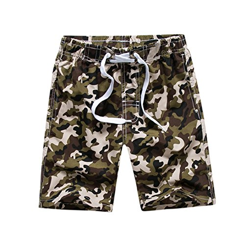 Tailor Pal Love Swim Trunks for Boys 16 Camo Boardshorts with Side Pocket Breathable Quick Dry Swim Shorts Green by Tailor Pal Love (Image #2)