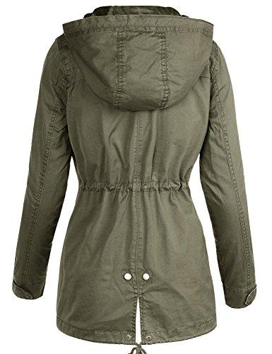 159d74c527f ViiViiKay Womens Cotton Anorak Lightweight Utility Parka Jackets with  Drawstring