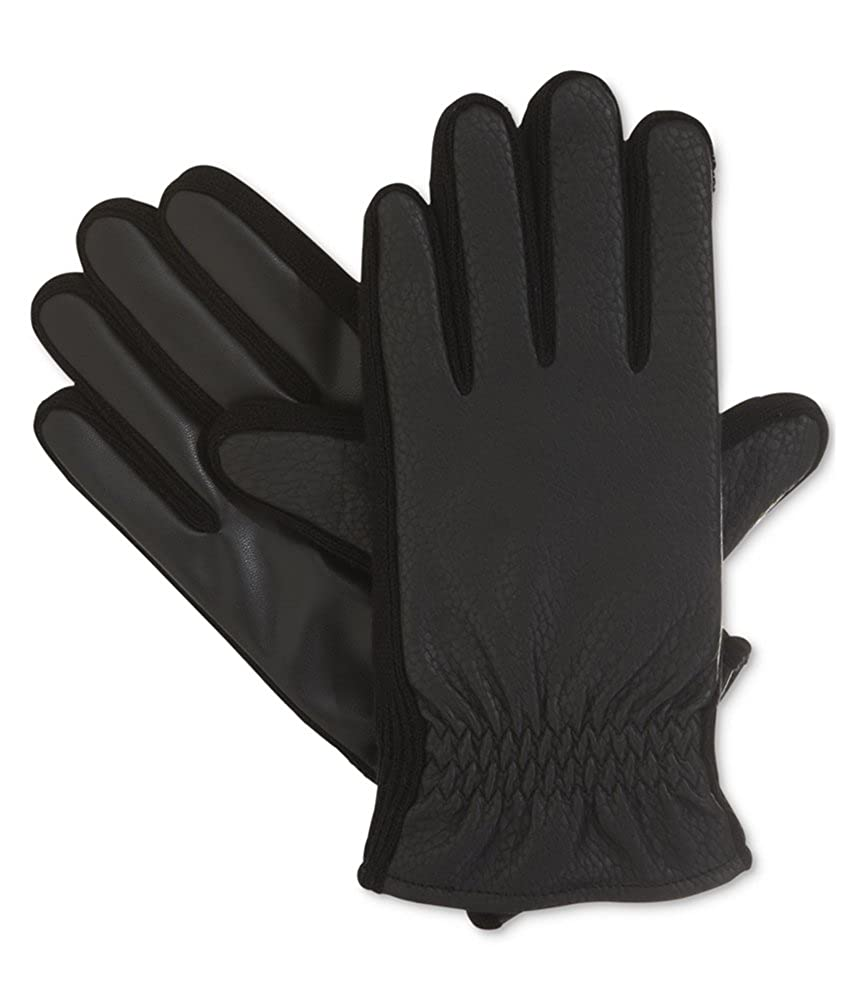 Mens Size Isotoner Signature THERMAflex/™ SmarTouch Textured Stretch Glove with Gathered Wrist
