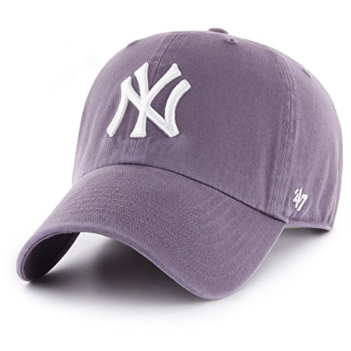 brand Yankees Clean V Relax Morado Up Curved MLB New Talla Fit Gorra 47 York Ajustable ACdqqW