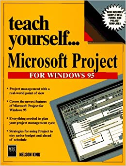 Book Teach Yourself Microsoft Projects for Windows 95 (Teach Yourself Visually)