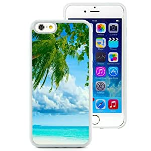 NEW Unique Custom Designed iPhone 6 4.7 Inch TPU Phone Case With Tropical Beach Coconut Tree_White Phone Case