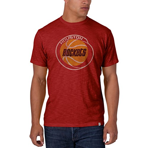 NBA Houston Rockets Men's Scrum Basic Tee, Rescue Red, XX-Large