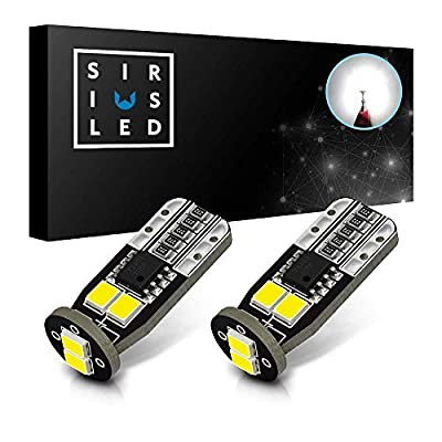 SIRIUSLED N6 194 Extremely Bright 3030 Chipset LED Bulbs for Car Interior Lights License Plate Dome Map Side Marker Door Courtesy Wedge 6000K Xenon White 168 175 174 2825 T10 192 Pack of 2: Automotive