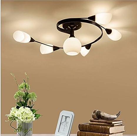 lámpara de techo moderna (bombillas del LED no incluidas) 6 ...