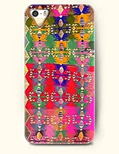 OOFIT Aztec Indian Chevron Zigzag Native American Pattern Hard Case for Apple iPhone 5 5S ( iPhone 5C Excluded ) Aztec Mayan Mosaic Design by icecream design