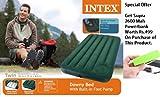 ORIGINAL INTEX INFLATABLE DOWNY CAMPING AIR BED MATTRESS WITH FOOT PUMP