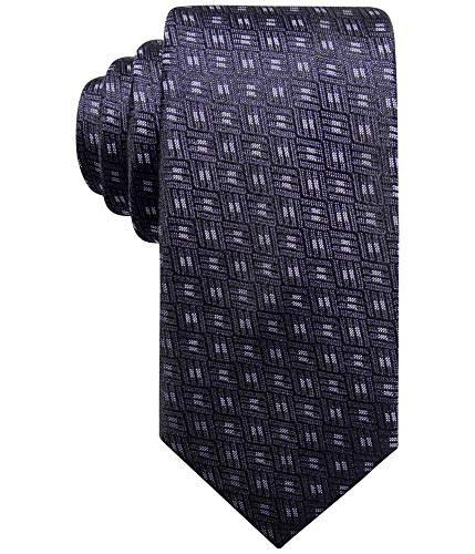 Alfani Men's Neat Silk Slim Tie (Purple, ONE SIZE) Alfani Mens Silk Tie