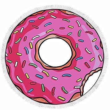 ... Borlas 150x150cm Donut Picnic Manta de camping Toallas de microfibra Secado rápido Ultraligero Algodón usable Para tapete de yoga: Amazon.es: Hogar