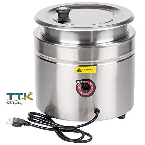 11 Quart Soup Kettle (Tabletop King W800 11 Qt. Stainless Steel Countertop Soup Kettle Warmer - 120V, 800W)