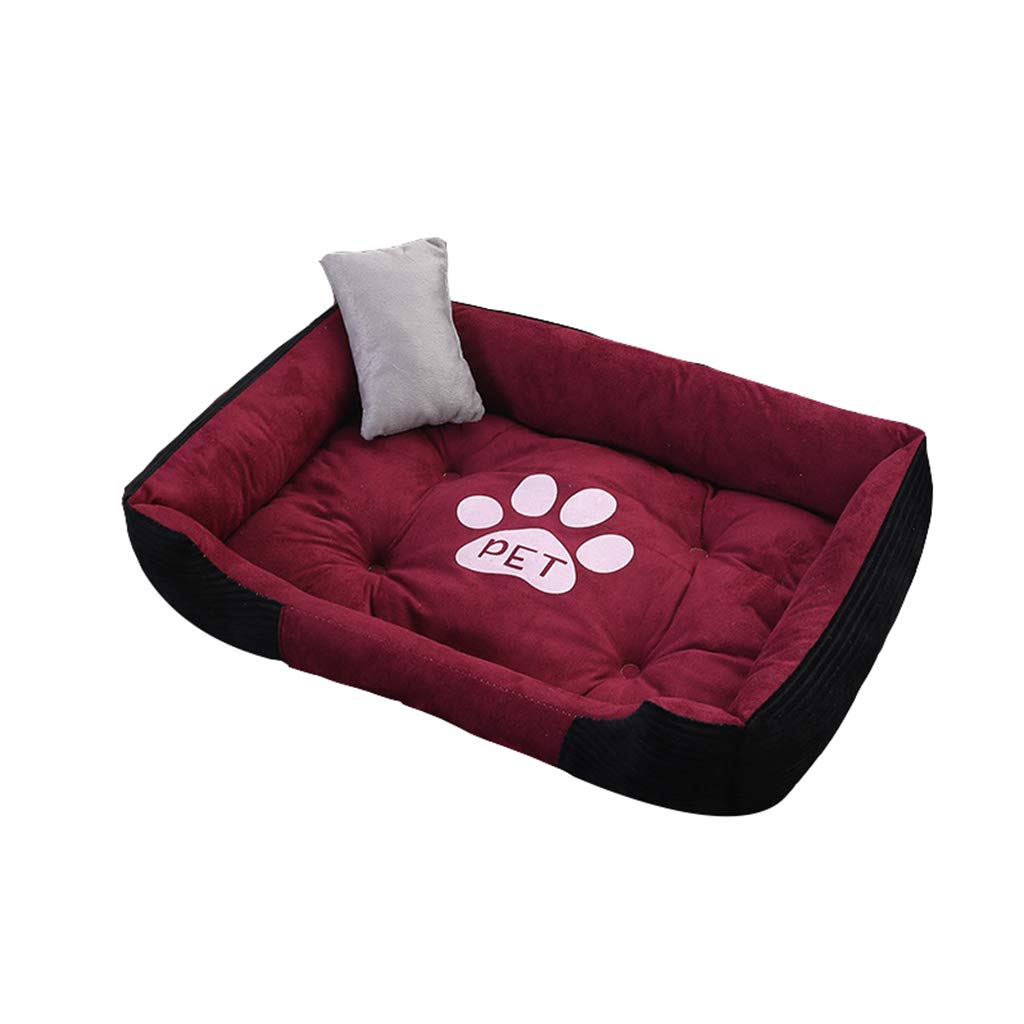 B X-Large B X-Large Pet house Pet Bed, Winter Thickening Dog Paw Footprint Pattern Cat Litter Bed 6 Sizes (color   B, Size   Xl)
