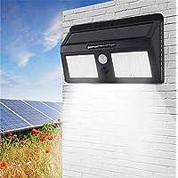 Luminaria Refletor Solar 40 Leds Sensor Jardim Corredores Noite (ZEM-31597-A)
