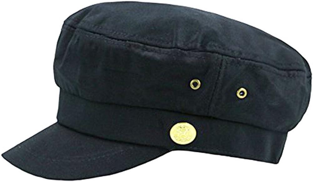 doublebulls hats Cerrado Gorras Militares Hombre Mujer Monocromático Admiral Marinero Capitán Sombreros Negro: Amazon.es: Ropa y accesorios