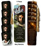Jesus, Prince of Peace, Art by Akiane Kramarik, Bible Verse Bookmark featuring John 14:2, In My House there are Many Mansions scripture - a 5 Wallet Cards & 6 Bookmark Bible Study Tools Ensemble
