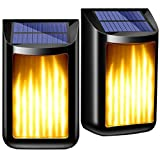 PHILWIN Solar Lights Outdoor, Waterproof Flickering Flame Wall Lights,Solar Power Wall Mounted Night Light Auto On/Off Dark Sensor Landscape Lighting for Fence Pathway Garden Porch Yard Deck Stairs(2) Review