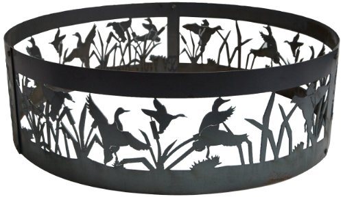 P&D Metal Works Flying Duck Fire Pit Ring