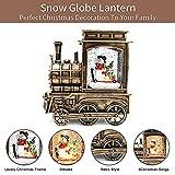 IIDEE Lighted Christmas Snow Globe Lantern, Snowman