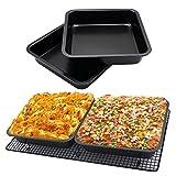 Onefa Tools Mold Mini Square Cake Pan 8 inch Cake Baking Pan Non-Stick Bakeware Cake Make Pan