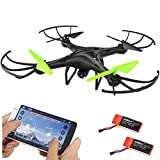 Drone Petrel U42W FPV RC Quadcopter w/HD Camera Live Video One Key Off / Landing