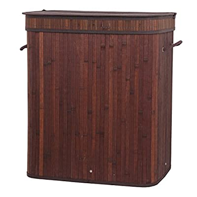 NEW Bamboo Laundry Hamper Basket Wicker Clothes Storage Bag Sorter Bin Organizer Lid