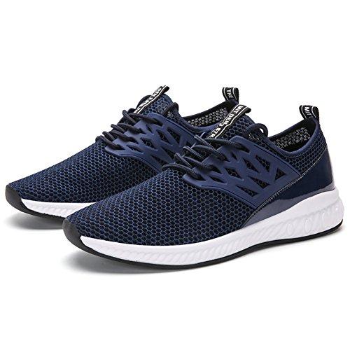 Jackshibo Heren Casual Fashion Sneakers Ademende Sportschoenen Donkerblauw