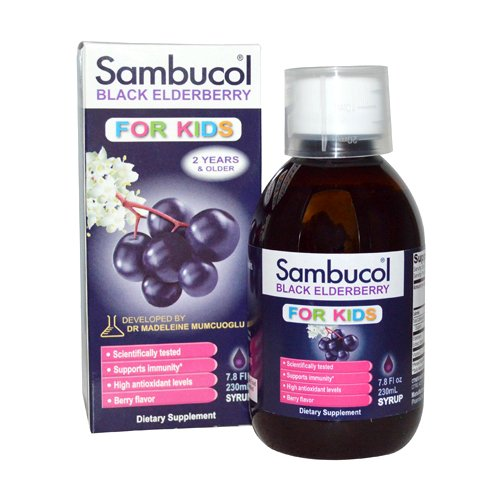 Sambucol Black Elderberry Syrup for Kids, 7.8 Fluid Ounce (Sambucol Syrup Elderberry)