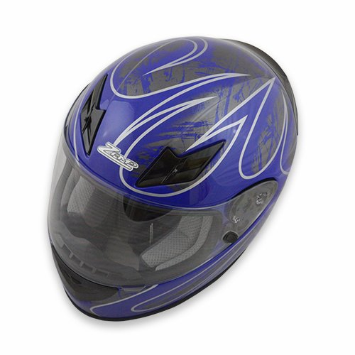 Zamp FS-8 Snell M2015 / DOT Helmet Graphic Blue/Silver XX-Large ()