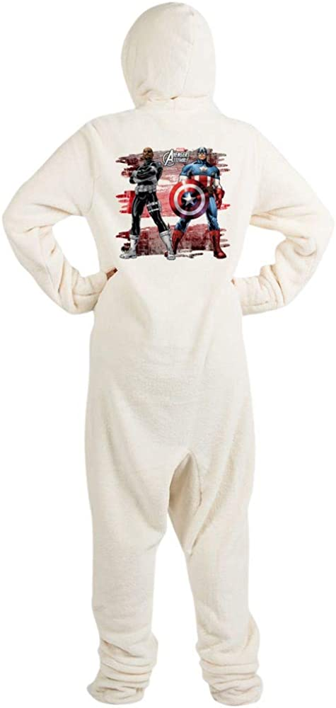 CafePress Captain America and Nick Fury Footed PJs 51S8A4hsjCL