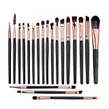 cream eyeshadow set - UNIMEIX Eye Makeup Brushes Set Eyeliner Eyeshadow Blending Brushes (20 Pieces Coffee)