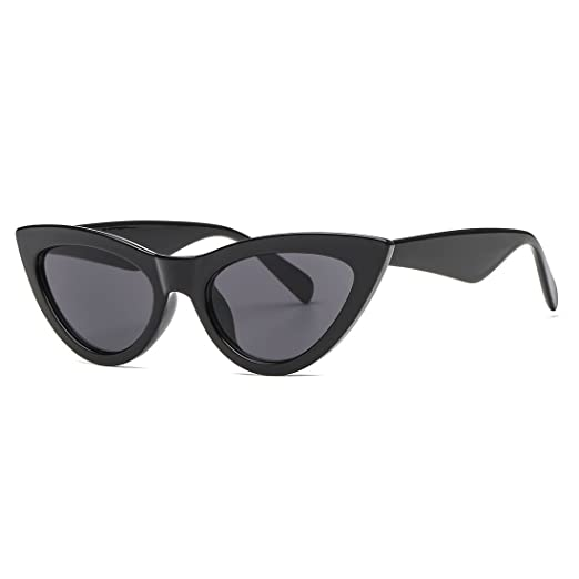 6ec39fe15ff AEVOGUE Womens Sunglasses Cat Eye Vintage Mirrored Lens Plastic Frame UV400  (Black