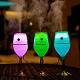 Nestar Aromatherapy Essential Oil Diffuser,Wine Glass Cool Mist Ultrasonic Humidifier,with Adjustable Mist Mode,7 Color LED Night Lights Chaning and Waterless Auto Shut-off for Office,Bed-room,Car