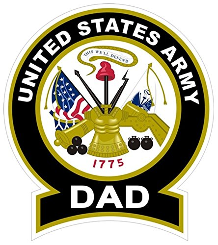 - Chiam-Mart 1 Pc Heart Stirring Unique United States Army Dad 1775 This We'll Defend Sticker Signs Bumper Outdoor Automotive Decor Wall Hoverboard Trucks Window Decal Laptop Car Stickers Size 4.5