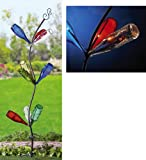 Garden Bottle Tree Solar Lawn Stake