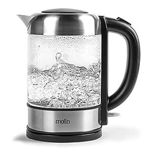 Molla Púro Cordless Glass Electric Water Kettle, Ultra Premium SCHOTT Glass